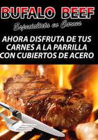 Ofertas de Bufalo Beef, cubiertos de acero