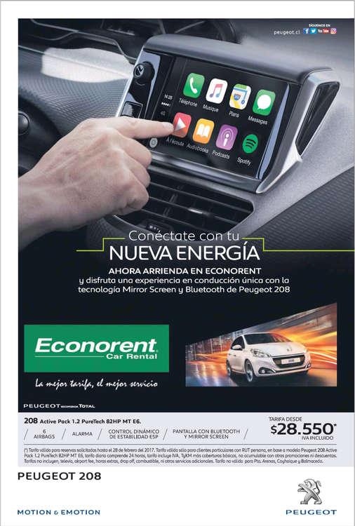 Ofertas de Econorent, Alquiler de Peugeot 208