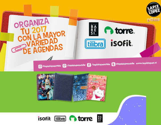 Ofertas de Lápiz López, Agendas 2017