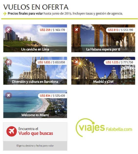 viajes en falabella: