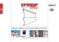 vinyl siding y accesorios de PVC