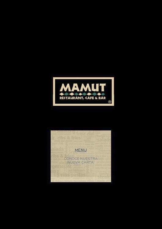 Ofertas de Mamut, nueva carta