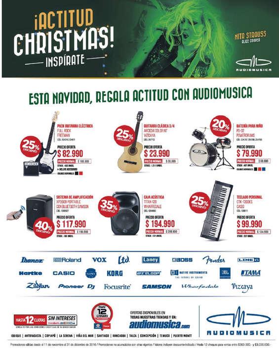 Ofertas de Audiomusica, ¡actitud christmas!