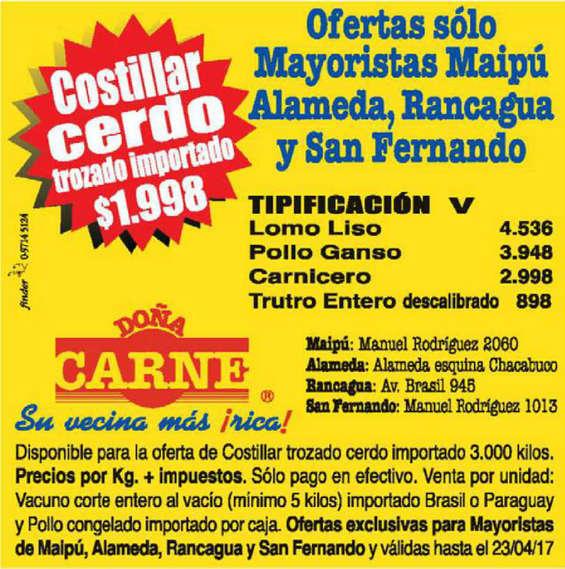 Ofertas de Doña Carne, mayorista maipú