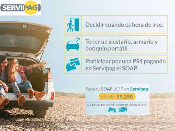 Ofertas de Servipag, Paga tu SOAP 2017
