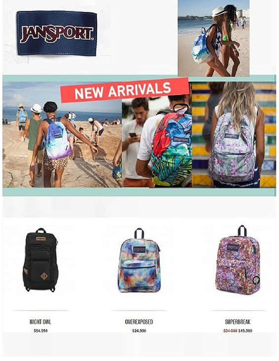 Ofertas de Jansport, New Arrivals