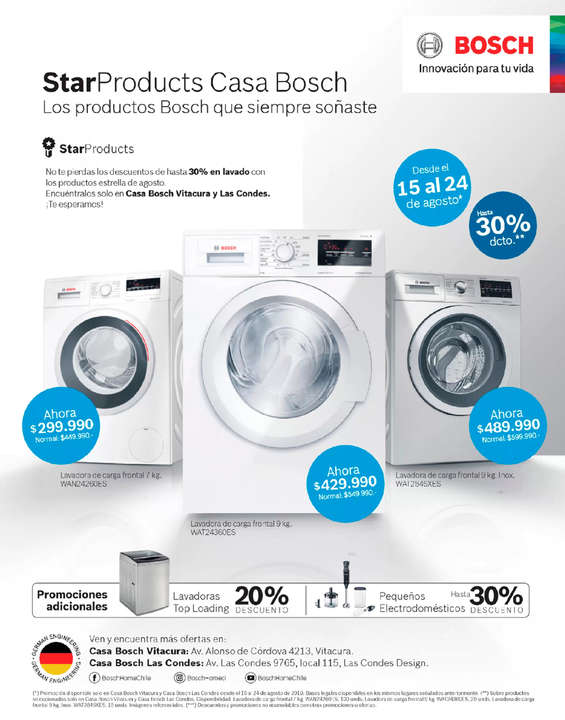 Ofertas de Bosch, Star Products, Lavado