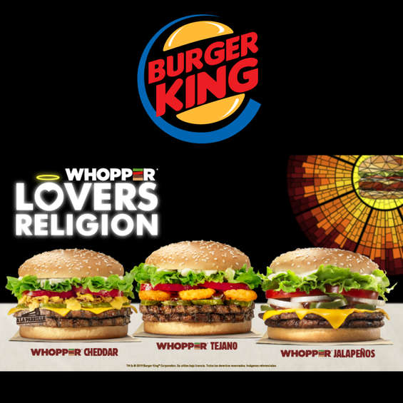 Ofertas de Burger King, Lovers Religion