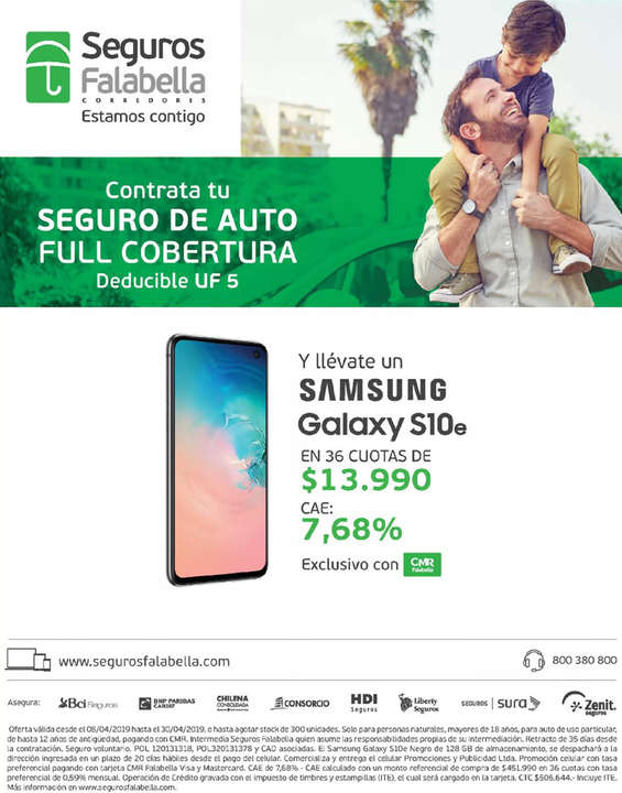 Ofertas de Falabella, Llévate un Samsung Galaxy S10