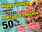 Ofertas de Jhot Pizza, Happy Lunch