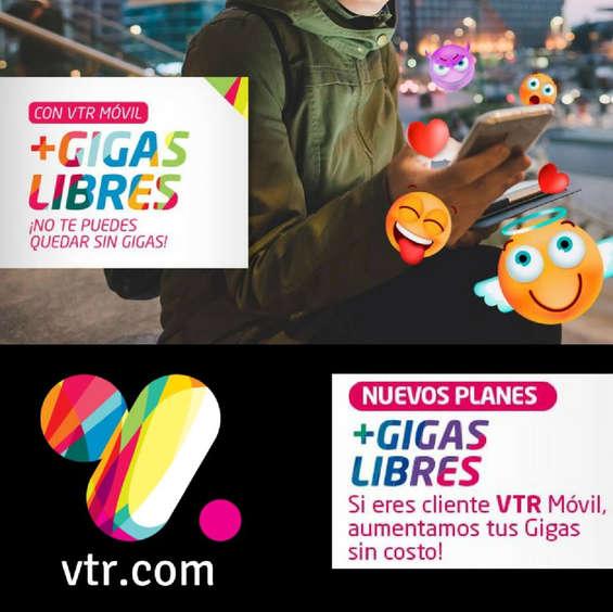 Ofertas de Vtr, Más Gigas Libres con VTR Móvil
