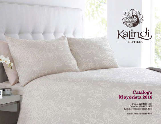 Ofertas de Kalindi Textiles, Catálogo mayorista 2016