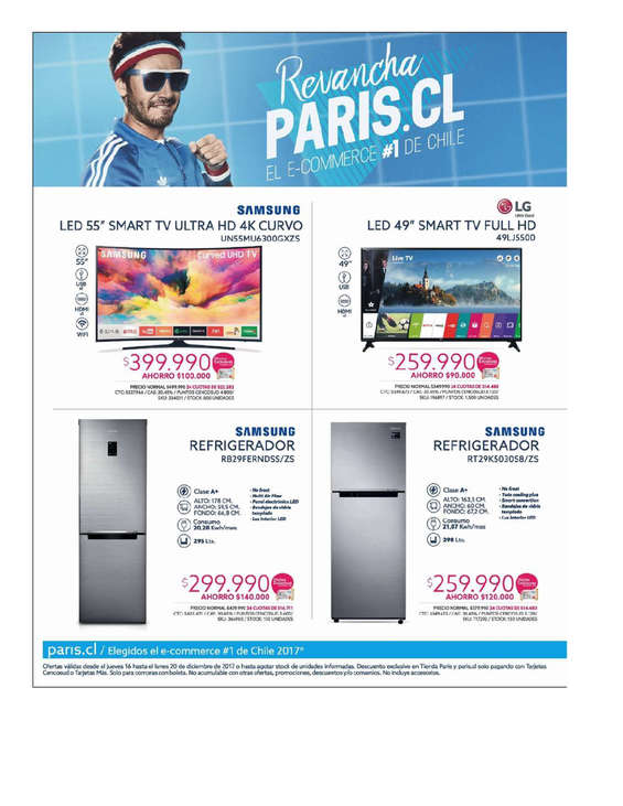 Ofertas de Paris, Revancha Paris