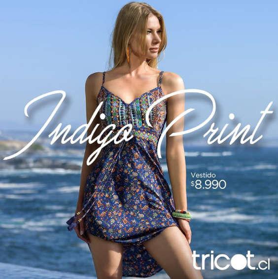 Ofertas de Tricot, Indigo Print