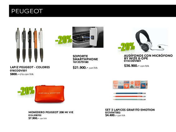 Ofertas de Peugeot, Boutique Peugeot