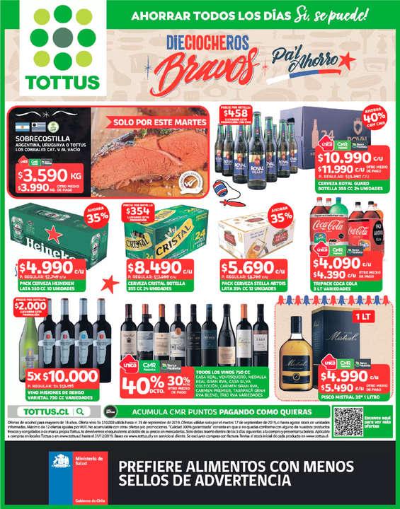 Ofertas de Tottus, Dieciocheros Bravos Pa'l Ahorro