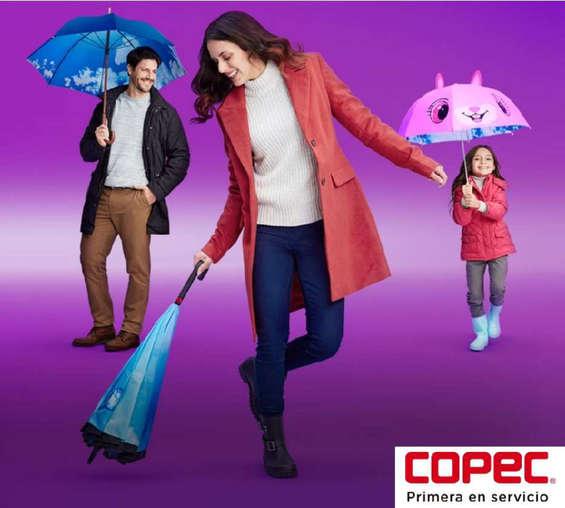 Ofertas de Copec, look paraguas